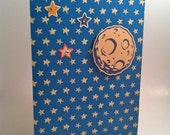 I Love You to the Moon and Back Blank Greeting Card