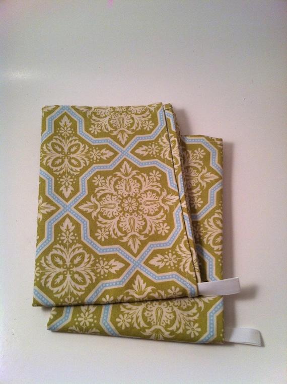 Kitchen Towel Set, Eco Friendly, Green, Damask