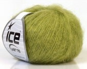 Kid Mohair Yarn Green