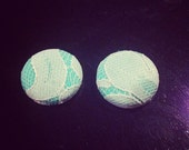 Custom Lace covered buttons Earrings for Foss