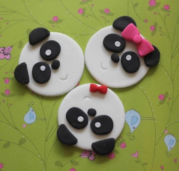 Adorable Panda Bear Fondant Toppers Perfect For Cupcakes