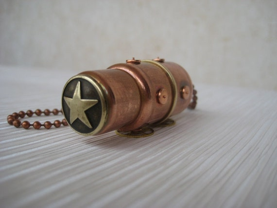 Copper 16GB USB flash drive.  Industrial/Steampunk