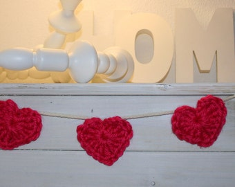 HEARTS CROCHET GARLAND, Crochet Pattern, Heart,Heart Pattern, Crochet, Handmade, Garland, lifestyle, Home Decor, Easy Pattern, Gift