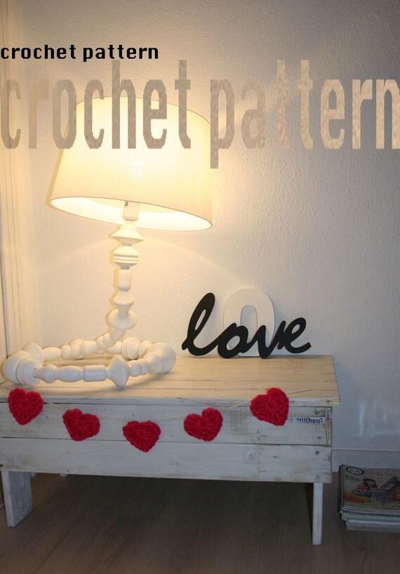 HEARTS CROCHET GARLAND, Crochet Pattern, Heart,Heart Pattern, Crochet, Handmade, Garland, lifestyle, Home Decor, Easy Pattern, Gift