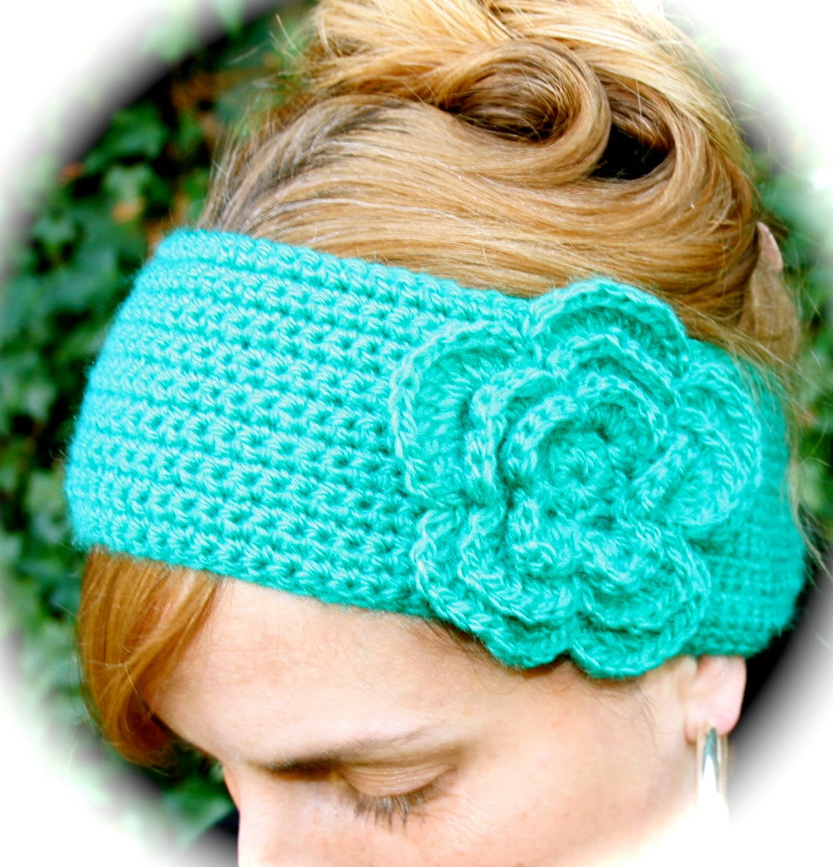 Crochet Pattern For Headband With Flower : FLOWER HEADBANDCrochet Pattern Headband with Big Layered