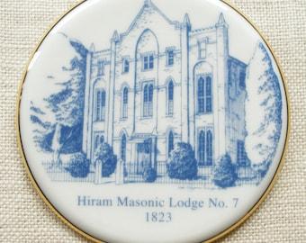 Franklin, TN, Ornament Features the Historic Hiram Masonic Lodge