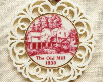 Old Mill Ornament Showcases the Landmark Pigeon Forge, TN, Mill in Fine Porcelain, Raymon Troup Art