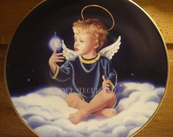 Angel Collector Plate, Star Light Star Bright by Raymon Troup