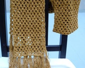 Honeycomb Gold Scarf