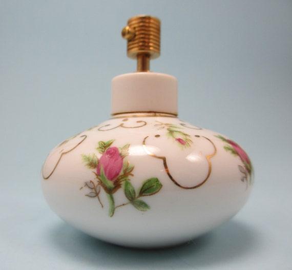 Hand Painted Irice Perfume Bottle
