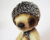 SALE 10 inch cute Hedgehog Dmitry - Mohair Artist Bear OOAK free shipping