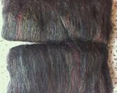 Black Blended Batt - merino, alpaca, trilobal nylon spinning fibre approx 100g