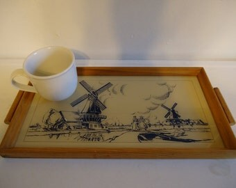 Antique Dutch Serving Tray