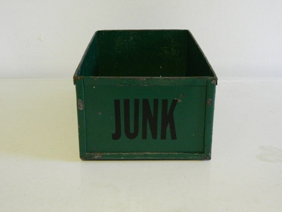 Green Vintage Metal Box - JUNK