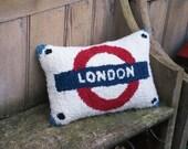 London Underground Cushion / Pillow - Love Britain Range - Recycled