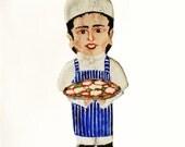 Pizza Chef  Kitchen Ornament