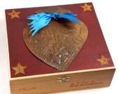 Milagro Heart Cigar Box Love Letter Box
