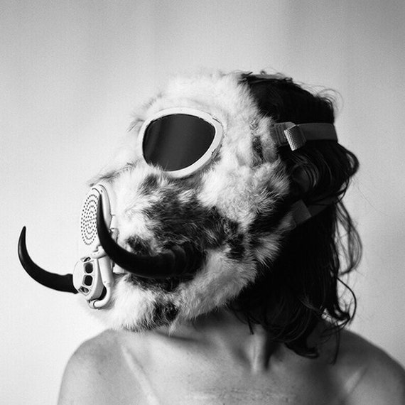 Horned Rabbit Fur Gas Mask