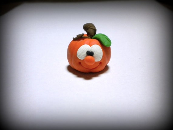 Halloween SALE  Happy Pumpkin Polymer Clay figure