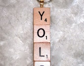 Scrabble Tile Keychain- Made to Order