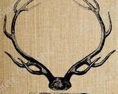Deer Elk Antlers Hunting  Decor Trophy Digital Download Scrapbooking Collage Sheet Great Transfer Sheet for Totes Cards T Shirts No. 360