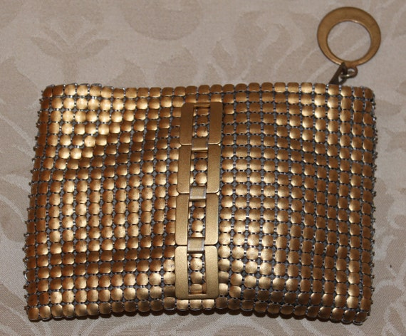 Vintage Gold Mesh Art Deco Style Bag Whiting and Davis