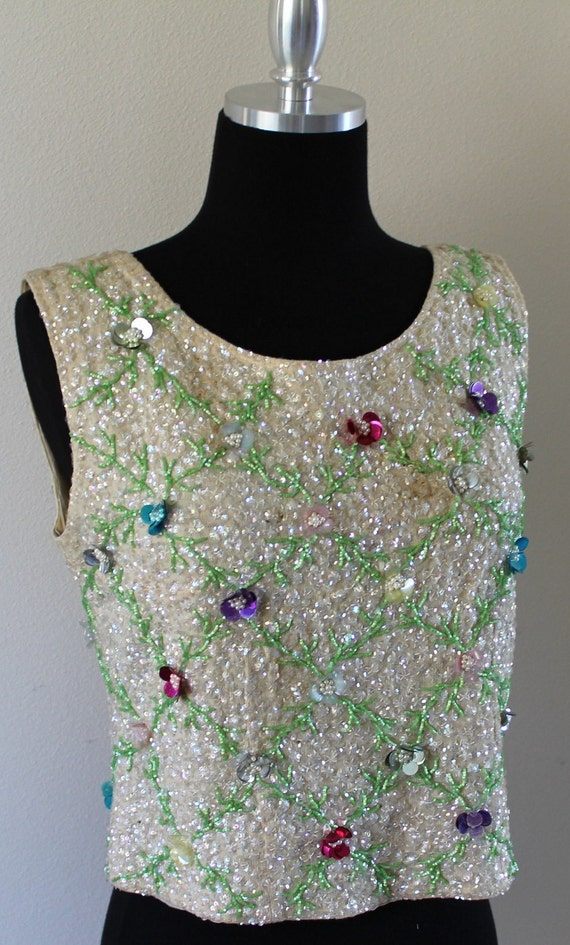 Vintage Bombshell Sequin Sparkle Top XS-S