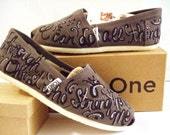 Bible Verse Custom painted TOMS Shoes
