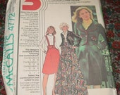 McCall's  Pattern 4772 Misses Unlined Jacket and Skirt Uncut 3 Sizes