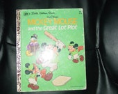 Vintage Mickey Mouse and the Great Lot Plot Little Golden Book