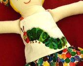 Very Hungry Caterpillar themed Made-to-Order Rag Doll