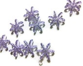 12mm light purple snowflake, flower, star bead, craft bead