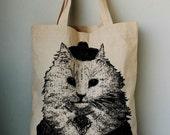 Cute Cat Canvas tote bag/Diaper bag/Shopping bag/ Document bag /Market Bag.