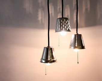 Popular items for kitchen lighting on etsy - Stainless steel kitchen pendant light ...