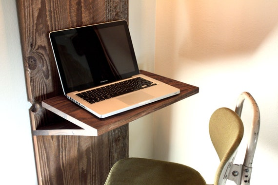 RESERVED // Barn Wood Laptop Desk w/ Industrial Built-in Lamp // Reclaimed Wood // Urban Design // Eco-Friendly Furniture