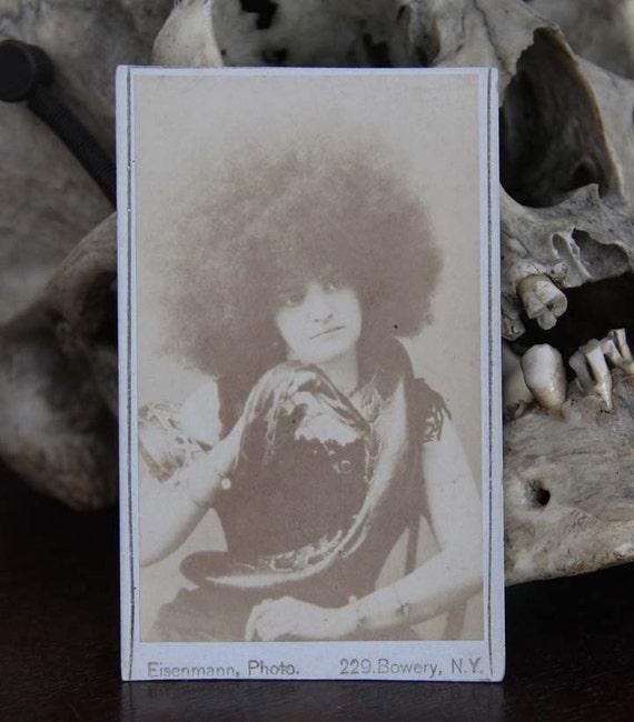 Rare Cabinet Card Real Photo Snake Woman Eisenmann New York 1870 - 1890