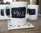 Chalk Painted Coffee Mugs-Set of 4