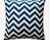 "CLEARANCE!!! ONE Aqua / Teal Chevron Zig Zag Pillow Cover - 18"" x 18"" Decorative Pillow Cover"