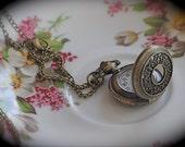 Neo Victorian Mini Pocket Watch and chain