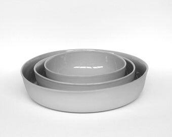 nesting bowl large - porcelain (concrete colour)