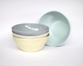 organic breakfast bowl - porcelain (citrus colour)