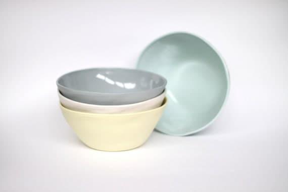 organic breakfast bowl - porcelain (citrus colour)