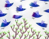 Greetings card - Flocking rooks (59)