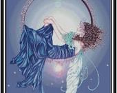 Sleeping Fairy PDF Cross Stitch Chart