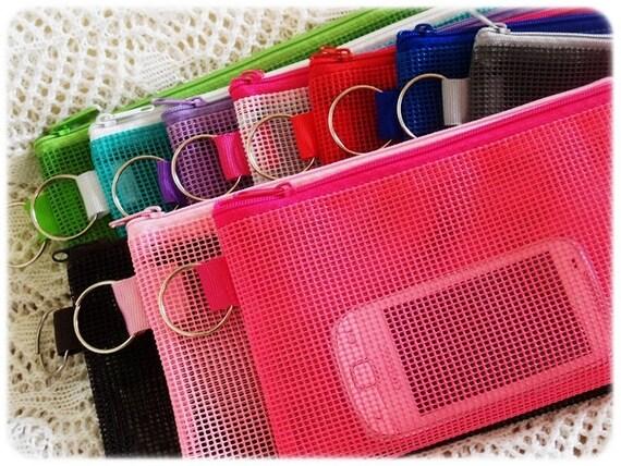 7 Bags SALE Pencil Case / color pencil case / See through - Multi colors - Back to school