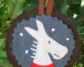 Christmas decoration - woodland animal portrait - donkey