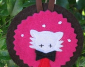 Christmas decoration - woodland animal portraits - red panda