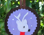 Christmas decoration - woodland animal portraits - reindeer