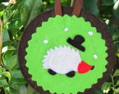 Christmas decoration - woodland animal portraits - hedgehog