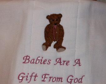 Sweet Baby Diaper Burp Cloth